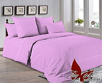 Комплект постельного белья двуспальный R0905 ТМ TAG Ранфорс Фиолетовый