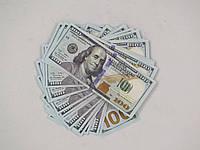 Упаковка (пачка) сувенирных 100 долларовых нового образца купюр $ (банкнот).