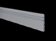 Алюминиевый плинтус скрытого монтажа с LED подсветкой анодированный