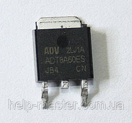 Тиристор ADT8A60ES (TO-252)