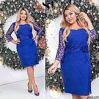 Праздничное женское платье для новогодней вечеринки, батал Размеры: 50,52