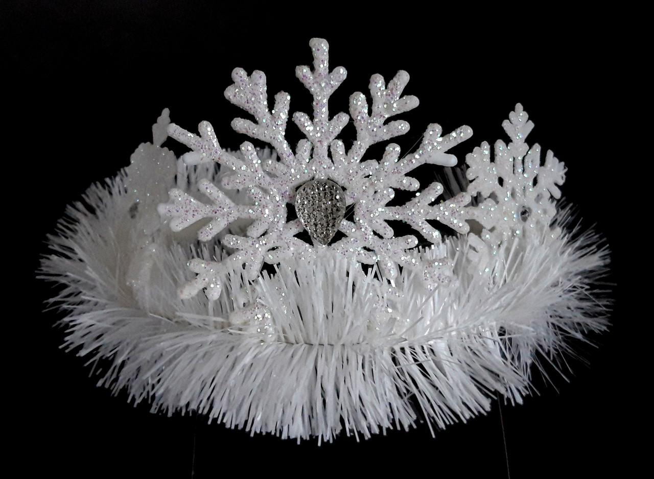 Снежинки на обруче, белые