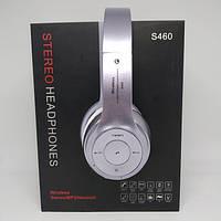 Наушники беспроводные bluetooth microSD Mp3 Beats S460 MP3 FM радио Светло-Сиреневые