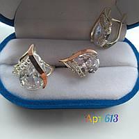 Серебряный набор с золотыми пластинами Николь, фото 1