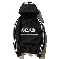 Худи утепленный в стиле Adidas - Palace Line, Black