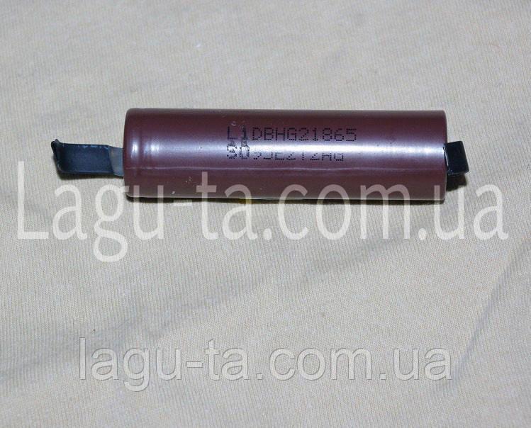 Аккумулятор Li-ion 18650 с выводами.