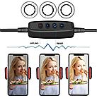 Держатель для телефона с подсветкой Professional Live Stream | Кольцо на прищепке для прямых трансляций, фото 6