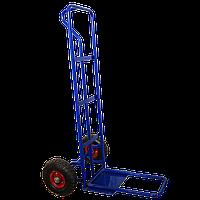 Тачка складская2-х колесная с откидной опорой на литых колесах