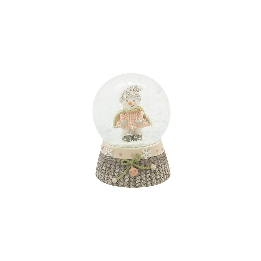 Шар снежный Снеговик в шапке 6см 109223