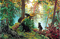 Набор для вышивки бисером POINT ART Иван Шишкин Утро в сосновом лесу, размер 50х33 см, арт. 1522