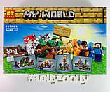 Конструктор Lele My World 10177 Верстак 8 в 1 аналог Lego Minecraft, фото 2