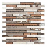 Мозаика Inter-Matex Brick brown 30x30