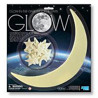 Ігровий набір 4M Світяться наклейки Місяць і зірки, 13 шт. (00-05215)