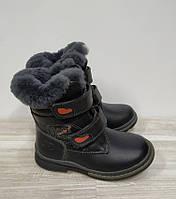 Сапожки зимние кожаные на мальчика 26 р Шалунишка арт 9526.