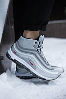 Мужские зимние кроссовки ботинки Nike Air Max 97 серые