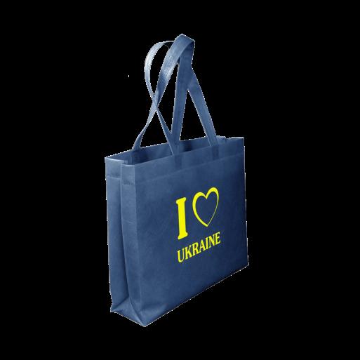 Эко сумка с принтом 30 х 40 с логотипом (спанбонд)