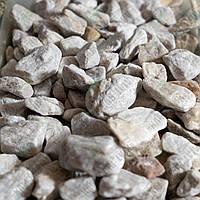 "Галька мраморная ""Белое Золото"" KLVIV, фр. 2 - 4см. (Меш.10 кг)"