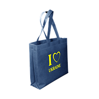 Эко сумка с принтом 40 х 30 с логотипом (спанбонд)