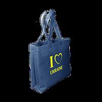 Эко сумка с принтом 37 х 50 с логотипом (спанбонд)