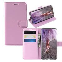 Чехол-книжка Litchie Wallet для Samsung A105 Galaxy A10 Светло-розовый