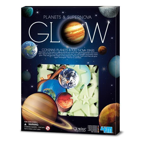 Ігровий набір 4M Світяться наклейки Планети і 100 зірок (00-05631)