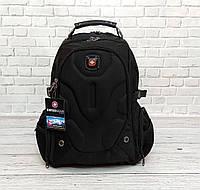 Вместительный большой рюкзак SwissGear Wenger, свисгир. Черный. На 35 Л