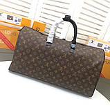 Дорожня сумка Луї Вітон Keepall 50, шкіряна репліка, фото 3
