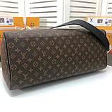 Дорожня сумка Луї Вітон Keepall 50, шкіряна репліка, фото 4