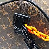 Дорожня сумка Луї Вітон Keepall 50, шкіряна репліка, фото 8