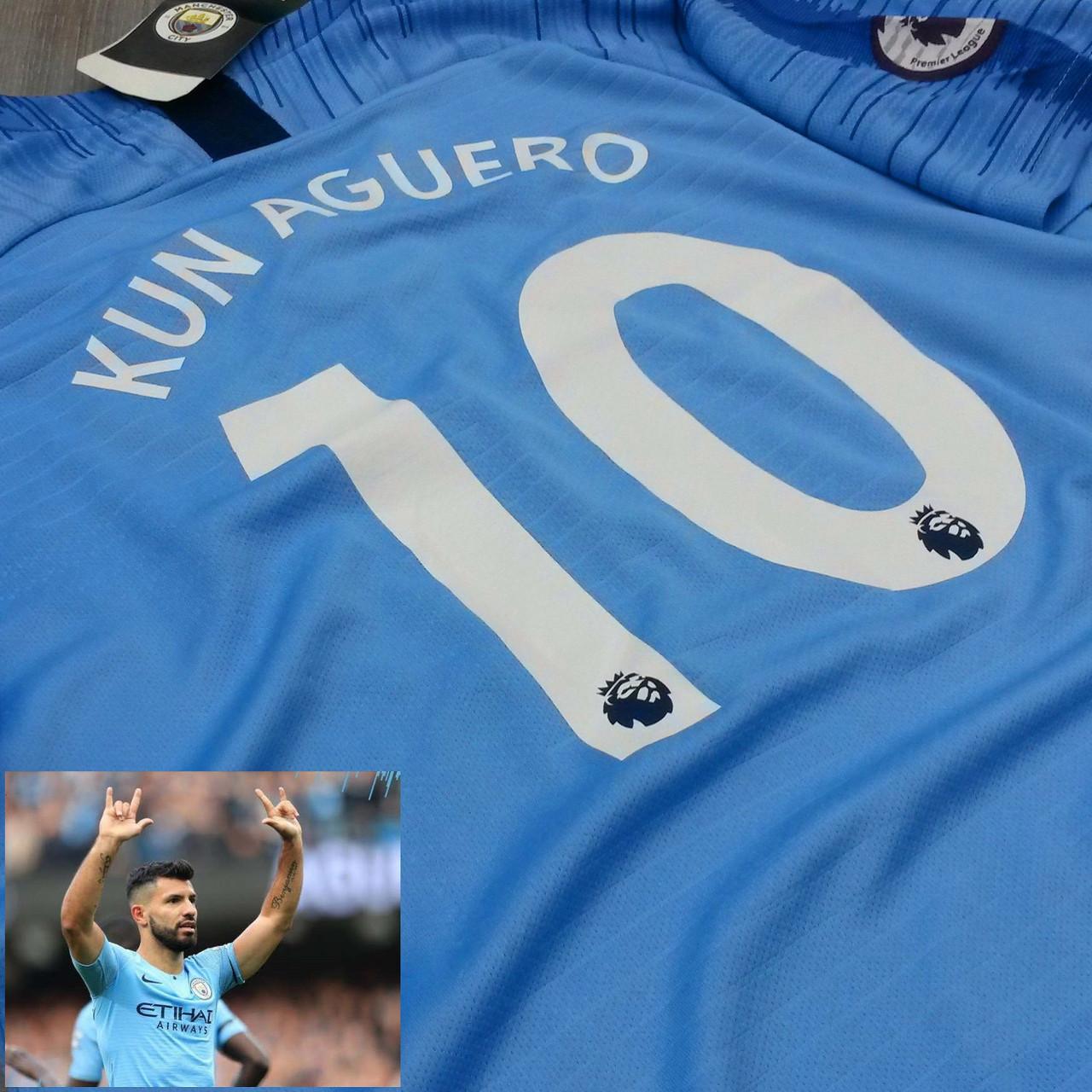 Детская футбольная форма Манчестер Сити №10 Серхио Агуэро