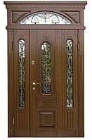 Элитные входные двери с фрамугой модель 1