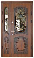 Двустворчатые двери входные металлические Термопласт™ Модель 18