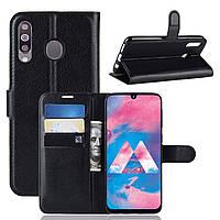 Чехол-книжка Litchie Wallet для Samsung Galaxy M30 / A40s Черный