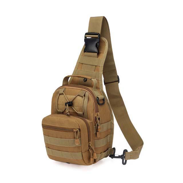 Тактическая, военная сумка, рюкзак на одной лямке. Хаки. Рюкзак через плечо на одной шлейке