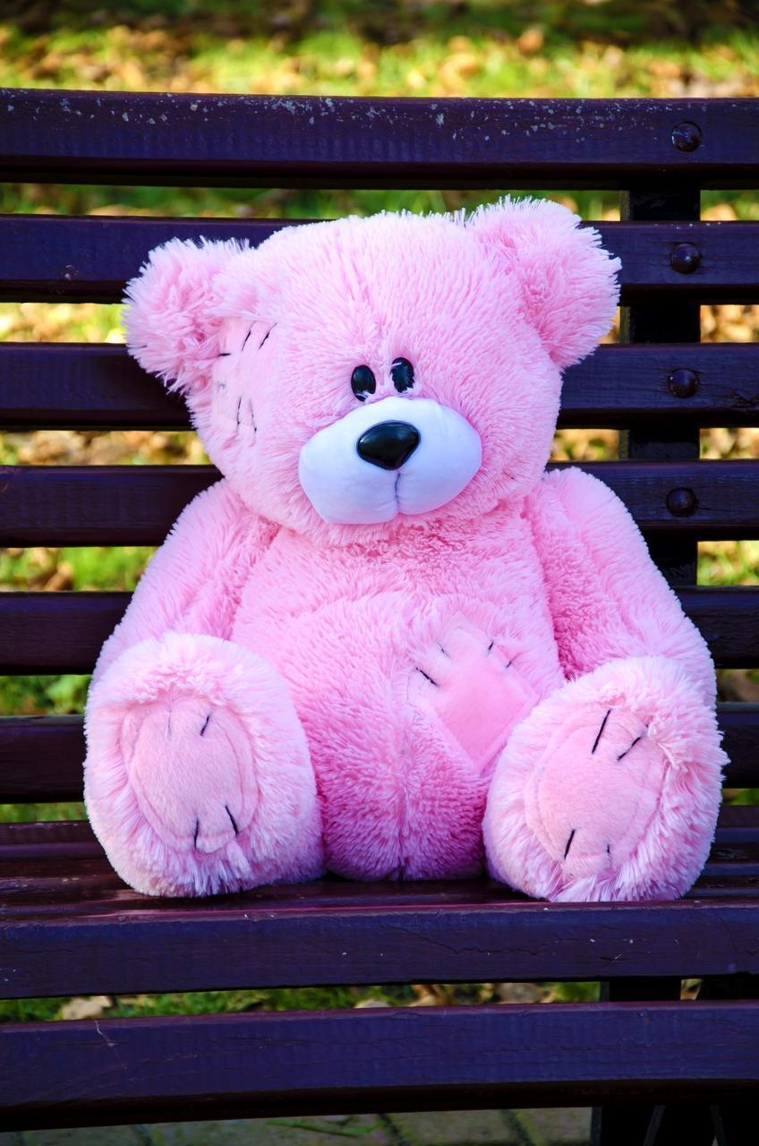 Плюшевый Мишка 50см. (Все Цвета)  Медведь игрушка Плюшевый медведь Мягкие мишки игрушки Ведмедик (Розовый)