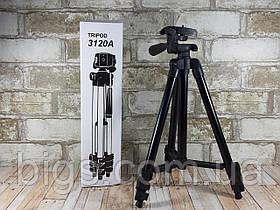 Штатив для телефона и фотоаппарата тринога 35см-102см 3120А