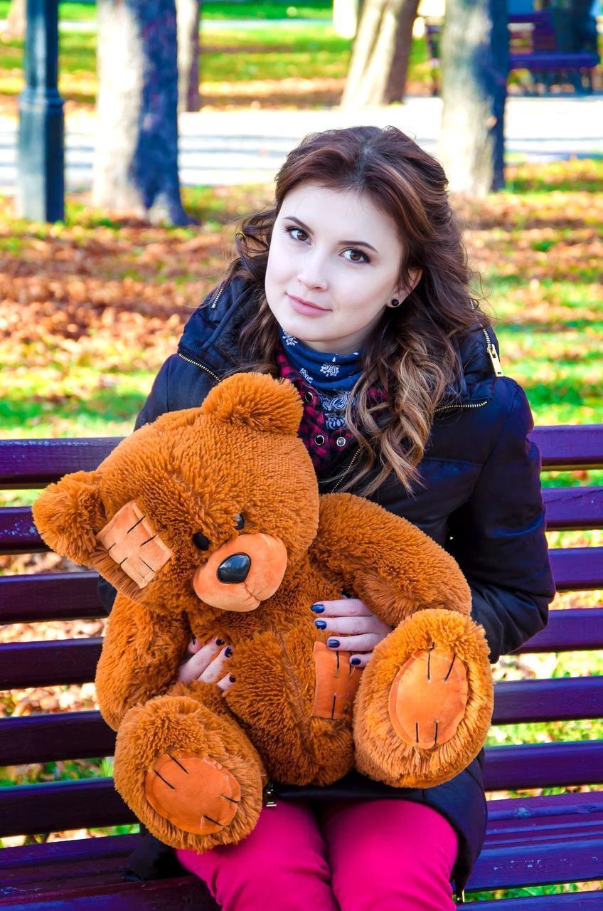 Плюшевый Мишка 50см. (Все Цвета)  Медведь игрушка Плюшевый медведь Мягкие мишки игрушки Ведмедик (Коричневый)