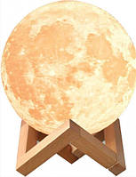 Ночник Луна 3D MHZ Moon Lamp 6727, 3 режима