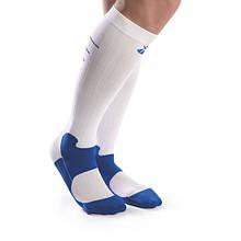 Спортивні компресійні гольфи Sport біло-сині OV02D501