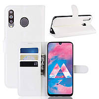 Чехол-книжка Litchie Wallet для Samsung M305 Galaxy M30 / A40s Белый