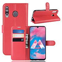 Чехол-книжка Litchie Wallet для Samsung M305 Galaxy M30 / A40s Красный