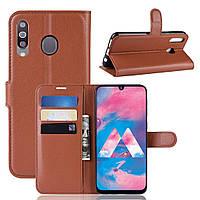 Чехол-книжка Litchie Wallet для Samsung M305 Galaxy M30 / A40s Коричневый
