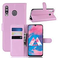 Чехол-книжка Litchie Wallet для Samsung M305 Galaxy M30 / A40s Светло-розовый