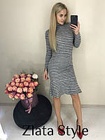 Трикотажное платье в полоску, фото 1