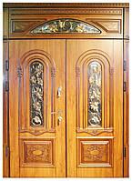 Входная дверь с фрамугой двустворчатая Термопласт™ Модель 30