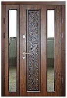 Двери входные двустворчатые с зеркалами Термопласт™ Модель 13