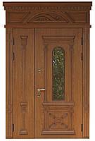 Двери металлические входные двустворчатые Термопласт Модель 14