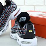 Кроссовки мужские Nike Air Max Plus Just Do It 31098 черные, фото 9