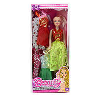 Кукла с нарядом, платья 4шт 168-1