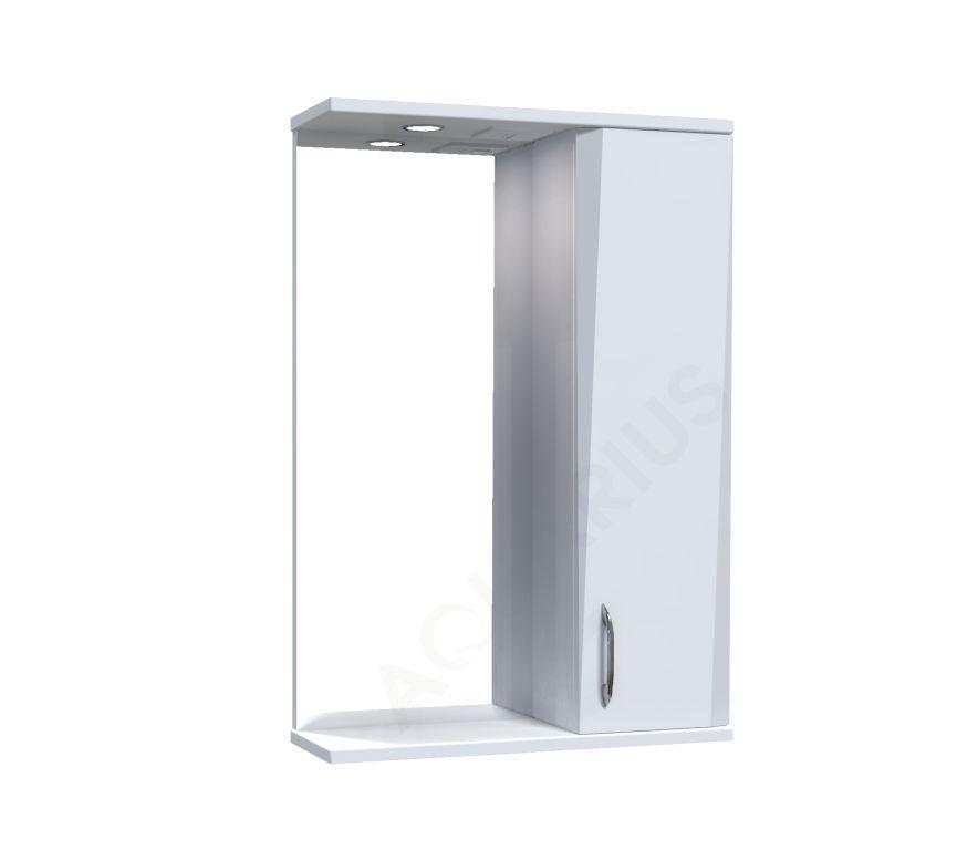 Зеркало Аквариус Жако со шкафчиком и подсветкой 50 см